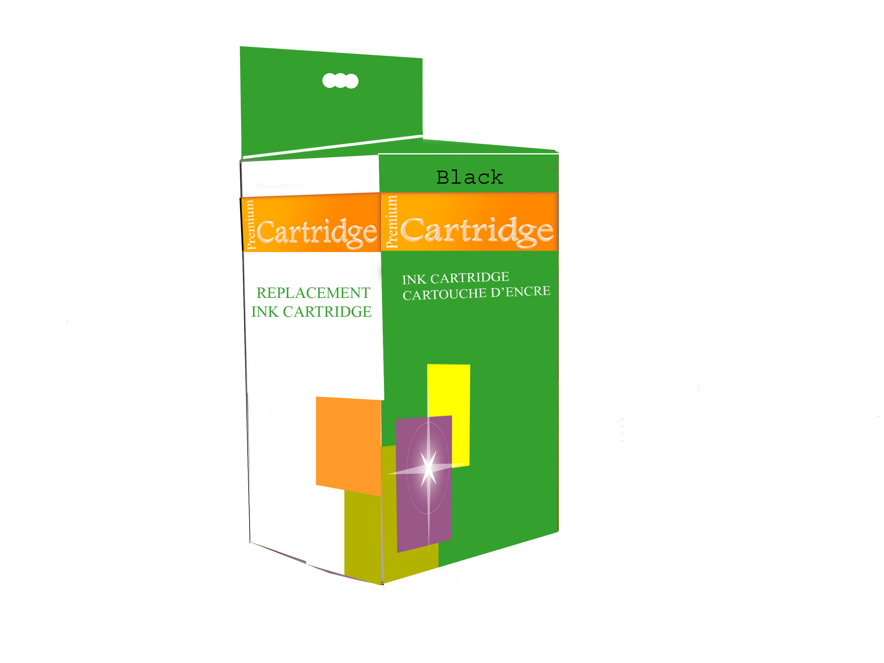 Premium Cartridge for HP #63XL Inkjet - HY Black - 2 Pack